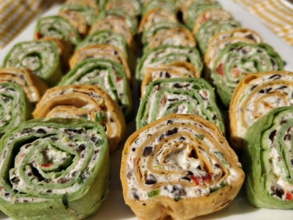 Veggie Cream Cheese Rollups | Pinky's Pantry